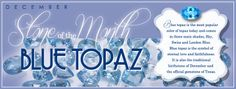 December Blue Topaz Birthstone: Blue Topaz is the Birthstone for December. December Baby, December Birthday, Topaz Birthstone, Jesus Birthday, New Month, Eternal Love, London Blue, Months In A Year, Custom Jewelry