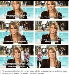 Love her! Jennifer Lawrence, she is awesome!