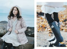 rosa Steppjacke, rosa Daunenjacke, blush tones, Odd Molly, Gummistiefel mit Schleife, rosa Winterjacke, Fashion Blog, Like A Riot, Winter Style, Winter Look, Winter Outfit