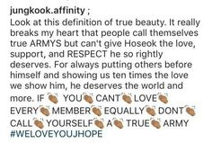 I love every member equally! They are all beautiful men who have hearts too! #LoveBTS