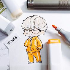 One of my favorite outfit ❤️❤️ Bts Suga, Bts Bangtan Boy, Suga Chibi, Fanart Bts, Kpop Drawings, Dibujos Cute, Bts And Exo, Anime Kawaii, Bts Fans