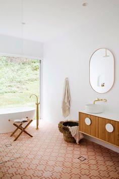 Three Birds Renovations House A Mediterranean-style home in northern NSW Decor Inspiration, Bathroom Inspiration, Bathroom Ideas, Decor Ideas, Decor Diy, Tray Decor, Bathroom Designs, Decorating Ideas, Bathroom Interior