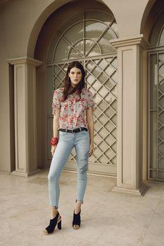 Mavi Adriana Ankle Jeans in Exotic Icon | Shop Spring