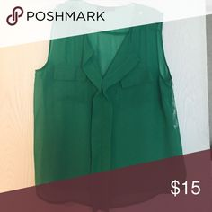 Wishful Park green size large Wishful Park size large (juniors). Hung to dry and dry cleaned only. Wishful Park Tops Blouses