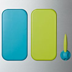 Lulalu dry erase boards are a fun and colorful organizing and communication solution for your stainless steel refrigerator, glass, mirrors and more. This 5x10 Lulalu dry erase board set includes two 5x10 boards along with a re-positionable dry erase marker and holder. Use Lulalu everywhere in your life: kitchen, bathroom, bedroom, office, school lockers, dorms, and more.