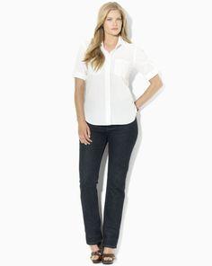 Carter Roll-Sleeve Shirt - Lauren Woman Long-Sleeve - RalphLauren.com