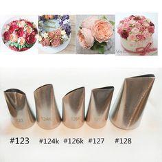 5 unids acero inoxidable juego de boquillas de decoración de pasteles tips Set…