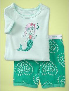 Mermaid sleep set . because mermaids need their beauty rest too!