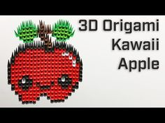 In this video, we showcase our modular origami stop-motion build of a Kawaii Apple. We folded 620 origami pieces to create this unique handmade paper art . Modular Origami, 3d Origami, Paper Artwork, Art Base, Paper Folding, Stop Motion, Medium Art, Pattern Art, Cool Gifts