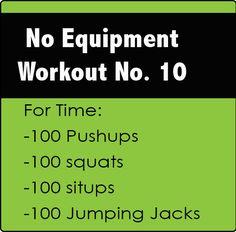 No Equipment CrossFit Workout No. 10