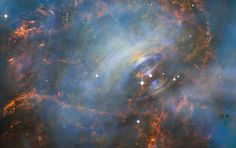 Hubble Photograph Reveals Expansion of the Gas in the Heart of the Crab Nebula. | Slate Magazine