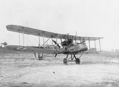 Royal Aircraft Factory F.E.2d reconnaissance biplane of No. 20 Squadron RFC at Sainte-Marie-Cappel, France. Serial number A6516. Crew: pilot Captain Stevens, observer B. C. Cambray. The aircraft has a message displayed on the fuselage reading: 'Presented by the Colony of Mauritius No. 13'.