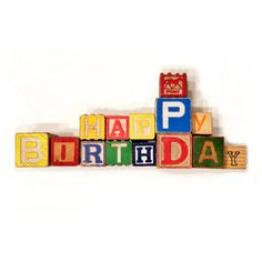 Vintage party decoration birthday cake topper for Alphabet blocks cake decoration