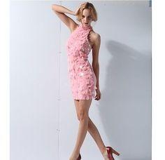 Womens Pink Elegant Sequin Dress Party Cocktail Wedding Dress | eBay