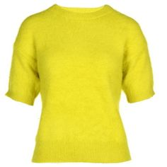 Michael Michael Kors Angora Blend Jumper ($115) ❤ liked on Polyvore featuring tops, sweaters, acid yellow, jumpers sweaters, michael michael kors, yellow jumper, michael michael kors tops and yellow sweaters