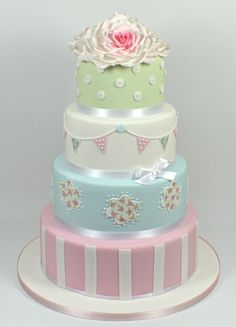 Inspired by Cath Kidston Wedding Cake 07917815712 www.facebook.com/fancycakeslinda www.fancycakesbylinda.co.uk