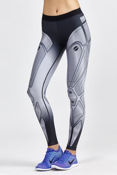 ∞ The Ultra Silk Robo Print Legging by Ultracor is a full-length legging with built-in compression ...