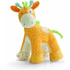 Different kinds of fabrics make one cute giraffe! To buy