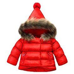 c0230c0fcc32f Jojobaby Baby Boys Girls Hooded Snowsuit Winter Warm Fur Collar Hooded Down Windproof  Jacket Outerwear Years