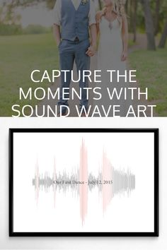 For our anniversary, I made a sound wave of our first dance song and used colors from our wedding. The pink was from my bridesmaid's dresses and the gray was from the groomsmen's suits. My husband loved it!