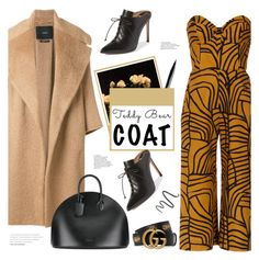 """Keep it Cozy: Fuzzy Coats"" by bklana on Polyvore featuring MaxMara, NYX, Andrea Marques, Maybelline, Calvin Klein 205W39NYC, Francesco Russo, Gucci, bklana and fuzzycoats"