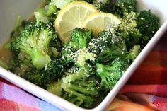 Garlic Citrus Broccoli - Around My Family Table