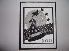 B O O - Halloween Card - uses some SU - Howl-o-ween Treat stamp set, Boo to You Framelits