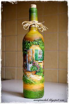 ПЛОДЫ МОЕГО ВООБРАЖЕНИЯ: ДЕКУПАЖ - бутылки