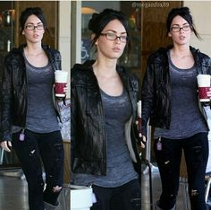 Casual Chic Style, Casual Street Style, Megan Fox Style, Megan Denise Fox, Celebs, Celebrities, Black Skinnies, Most Beautiful Women, Girl Crushes