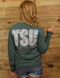 TEXAN FANS BOHO IS BACK. TSU never looked better than on this Comfort Color long sleeve.
