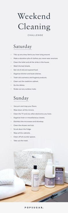 Take the Ultimate Weekend Cleaning Challenge! - Home Cleaning Schedule Monthly Cleaning Schedule, Cleaning Challenge, Clean House Schedule, Cleaning Day, Cleaning Checklist, Deep Cleaning, Spring Cleaning, Cleaning Hacks, Cinderella Cleaning