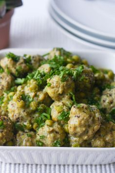 Meatballs with lemon and Dijon sauce - Bake Bellissima