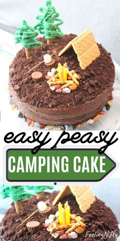Imaginative Halloween Costumes - The Best Way To Be Artistic With A Budget Smores Camping Cake Feeling Nifty Birthday Cakes For Men, Camping Birthday Cake, Fish Cake Birthday, Camping Cakes, Camping Diy, Cakes For Boys, Birthday Kids, Outdoor Camping, Easy Cakes For Kids
