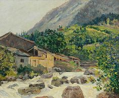Maxime Maufra (French, 1861-1918)  The Village On The River, Bozel