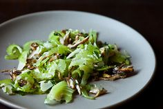 Italian Celery and Mushroom Salad. Go light on the cheese to decrease saturated fat and total kcal. (TG)