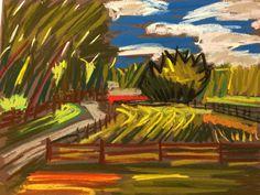 Now on eBay! Soft pastel on Colourfix paper! Tim Bruneau original! Bids start at 1 penny! Artist Landscape Soft Pastel Original Tim Bruneau Impressionism 2000-Now #Impressionism