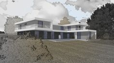 sketch of family house by Viktor Home Fashion, Studios, Sketches, Mansions, House Styles, Pictures, Design, Home Decor, Mansion Houses