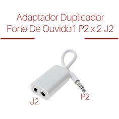 Adaptador Duplicador Splitter Fone De Ouvido P2 J2 3,5mm - R$ 8,90