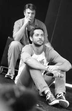 Nathan Fillion and Zachary Levi - otherwise known as the best picture ever.