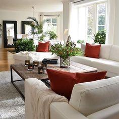 Home Interior Ideas .Home Interior Ideas Home Living Room, Living Room Designs, Living Room Furniture, Red Living Room Decor, Home Interior, Interior Design, Interior Colors, Kitchen Interior, Interior Ideas