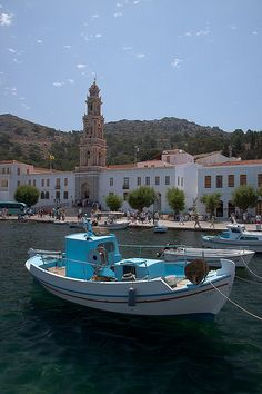 Panormitis Monastery, Symi Island, Greece Mykonos Greece, Crete Greece, Athens Greece, Travel Around The World, Around The Worlds, Places To Travel, Travel Destinations, Greek Beauty, Greek Isles