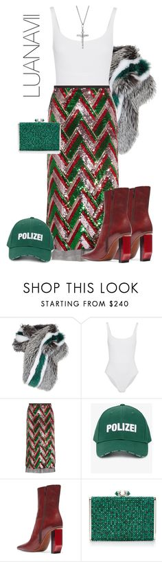 """""""Polizei"""" by luanavii ❤ liked on Polyvore featuring Lilly e Violetta, Eres, Gucci, Vetements, Judith Leiber, Clutch, Sequins, styling, vetements and polizei"""