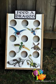How To Train Your Dragon Birthday Party: Make your own shield, train your dragon stations, sensory table, and dragon training survival loot bags! Dragon Birthday Parties, Dragon Party, Birthday Party Themes, 5th Birthday, Dragon Ball, Birthday Ideas, Viking Party, Medieval Party, Medieval Games
