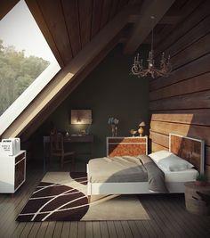 tolle ideen wie sie ihr dreiecksfenster verdunkeln a frame pinterest gardinen einrichten. Black Bedroom Furniture Sets. Home Design Ideas