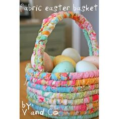 Fabric Easter basket  #Easter #Crafts and #Spring #DIY Projects