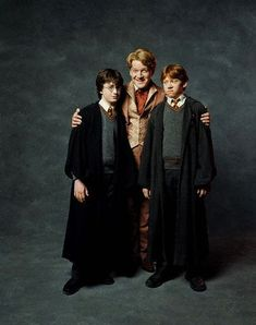 Harry Potter and the Chamber of Secrets - Promo shot of Daniel Radcliffe, Kenneth Branagh & Rupert Grint Phoenix Harry Potter, Harry Potter Facts, Harry Potter Movies, Lockhart Harry Potter, Kenneth Branagh, Chamber Of Secrets, Harry Potter Birthday, Daniel Radcliffe, Ron Weasley