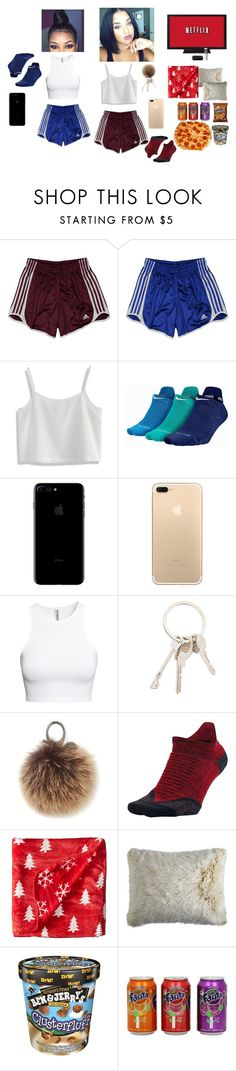 """Netflix Marathon wit Bestie"" by sammywilkbae ❤ liked on Polyvore featuring adidas, Chicwish, NIKE, H&M, Givenchy, Rebecca Minkoff, Life is good, Pier 1 Imports and CO"