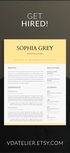 Nurse resume template for modern professionals Suitable as - medical resume template