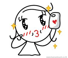 """""""Selfie Time!""""  Human Touch very own Boy meets Girl characters is now available on Line Mobile chat app stickers! Wanna preview, Just check out at line.me/...! Only US$ 0.99 for a set of 40 lovely stickers with no expiry date to decorate your chat ! Let's follow their love adventure and be in love with them all over again!"""