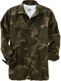 Men's Camouflage Shirt Jackets | Old Navy
